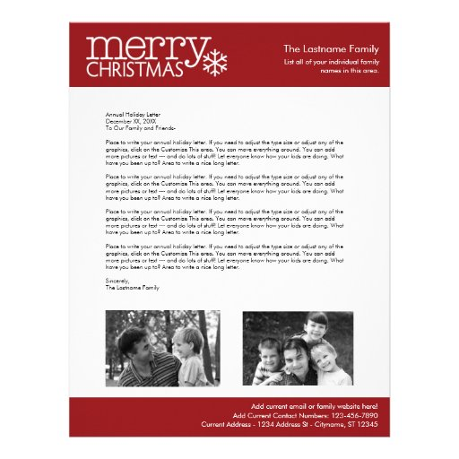 Annual Holiday Letter