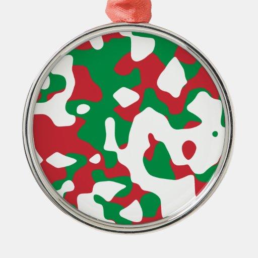 Christmas Camouflage Christmas Tree Ornaments