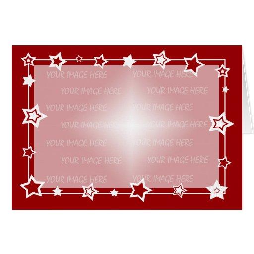 christmas card border template horizontal  zazzle