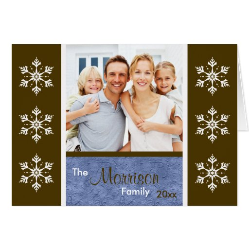 Christmas Card With Family Photo Insert