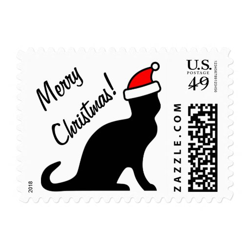 Christmas Cat Postage Stamps