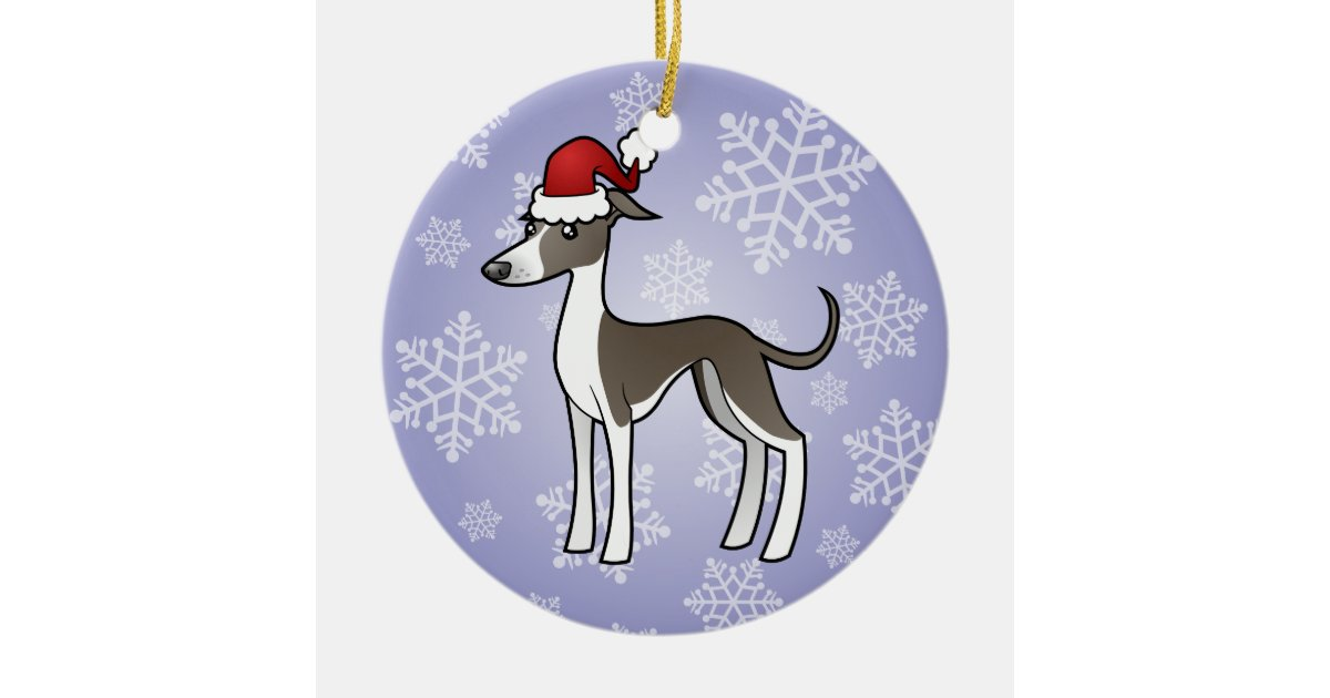 Christmas Greyhound / Whippet / Italian Greyhound Ceramic ...