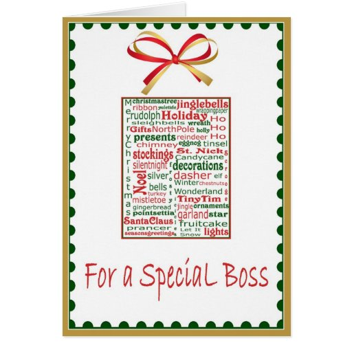 what to say in a christmas card to your boss