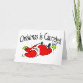 Christmas Is Canceled Santa card