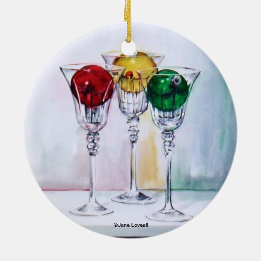 Christmas Decorations With Wine Glasses: Christmas Ornaments In Wine Glasses Ornament