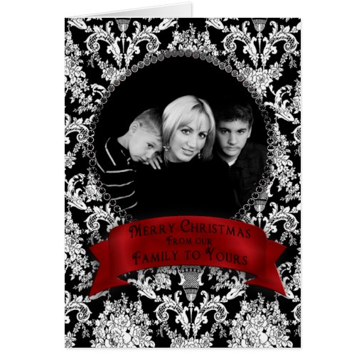 Christmas - Our Family To Yours - Photo Insert Card