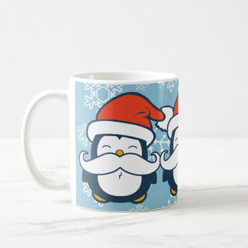 Keep Calm And Movin Right Along The Muppets: Christmas Penguin Mustache Trend Mugs
