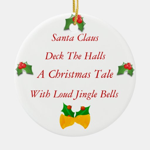 Poem About A Christmas Tree: Christmas Poem Double-Sided Ceramic Round Christmas