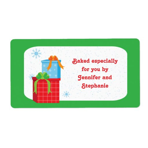 Baked Christmas Gifts: Christmas Presents Baked Goods Gift Tag Labels