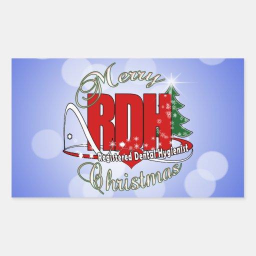 CHRISTMAS RDH Registered Dental Hygienist Rectangular ...