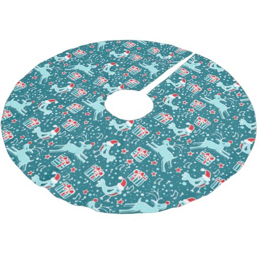 Aqua Christmas Tree Skirt: Aqua Tree Skirt Designs