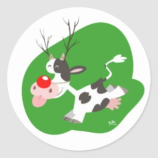 Christmas reindeer sticker sticker