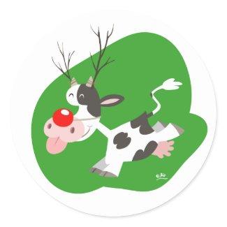 Christmas reindeer sticker sticker