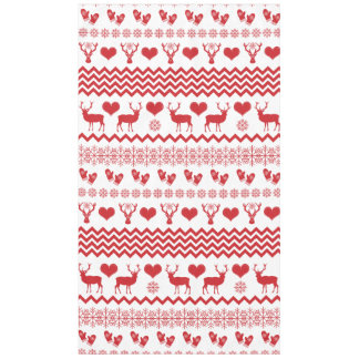Christmas Reindeer Winter Sweater Pattern Tablecloth