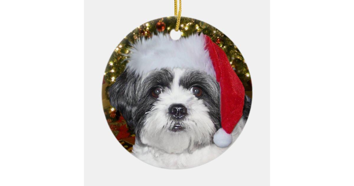 Shih Tzu Christmas Ornament