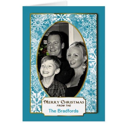 Christmas Snowflake - Photo Insert Greeting - Card