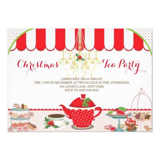 Christmas Tea Party Ideas: Christmas Tea Party Invitation