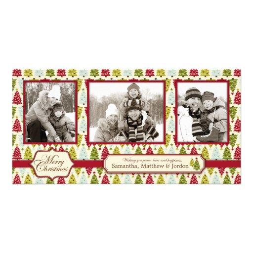 Christmas Tree Trio: Christmas Tree Photo Card Trio