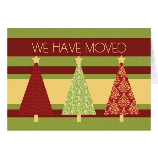Christmas Trees New Address Christmas Card