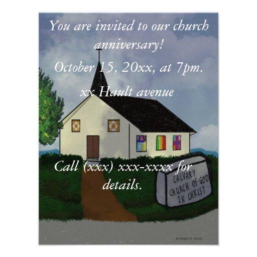 Personalized Church Anniversary