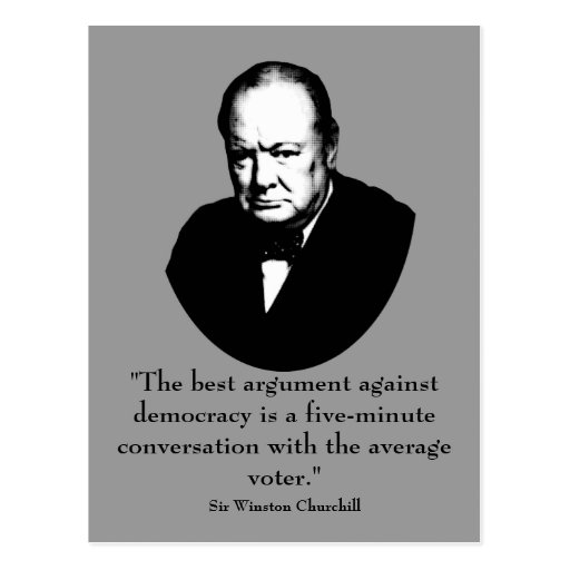 Funny Quotes Churchill: Churchill And Funny Quote Postcard