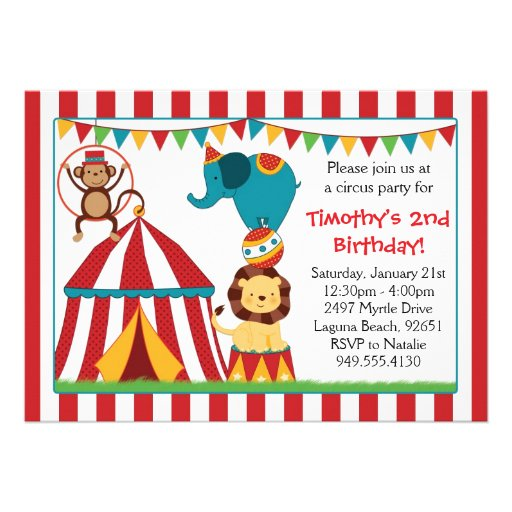 Personalized Backyard Birthday Party Invitations