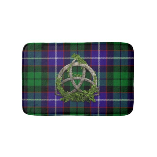 Clan Mitchell Tartan Celtic Trinity Bathroom Mat Zazzle