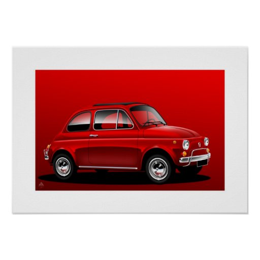 Classic Fiat 500 Poster