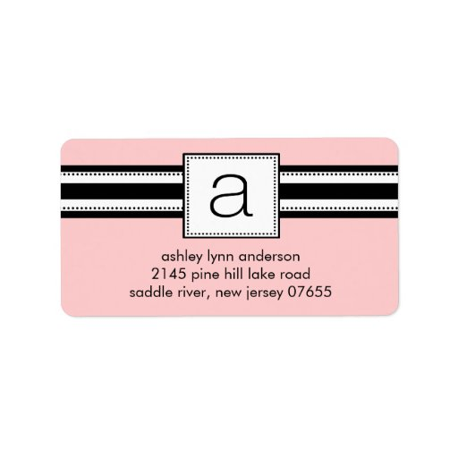 classic letter a monogram return address labels zazzle. Black Bedroom Furniture Sets. Home Design Ideas