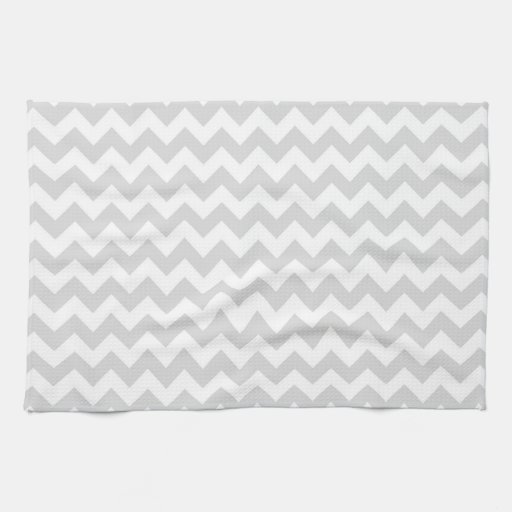 light gray white chevron zig zag pattern hand towels zazzle. Black Bedroom Furniture Sets. Home Design Ideas