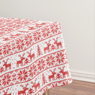 Classic reindeer Xmas. pattern Tablecloth