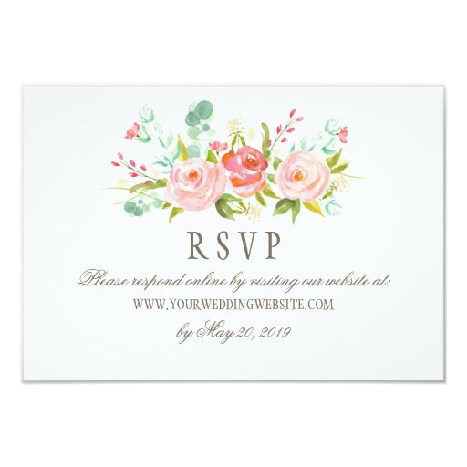 Online Wedding Invitations Website: Classic Rose Garden Wedding RSVP Online Website Card