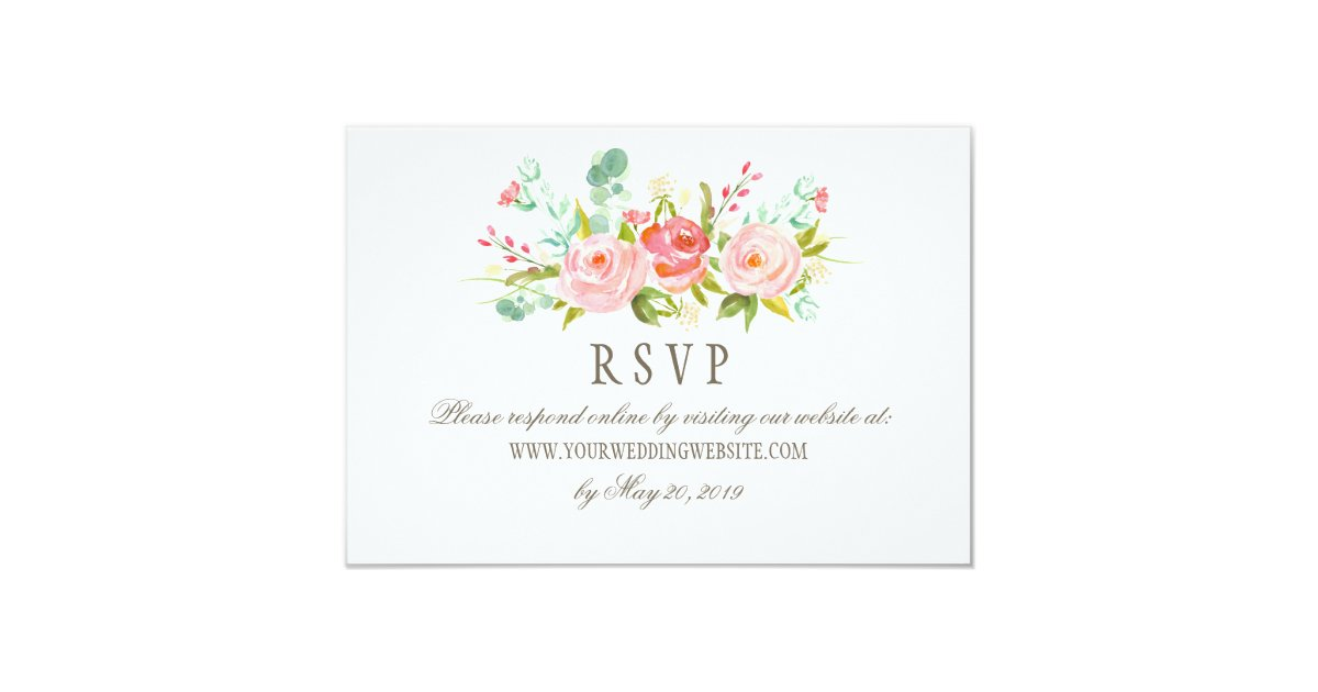 Online Wedding Invitations And Rsvp: Classic Rose Garden Wedding RSVP Online Website Card