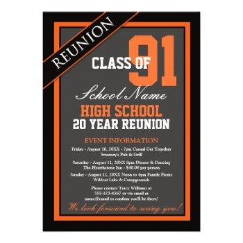 Cly Formal High School Reunion Invitation