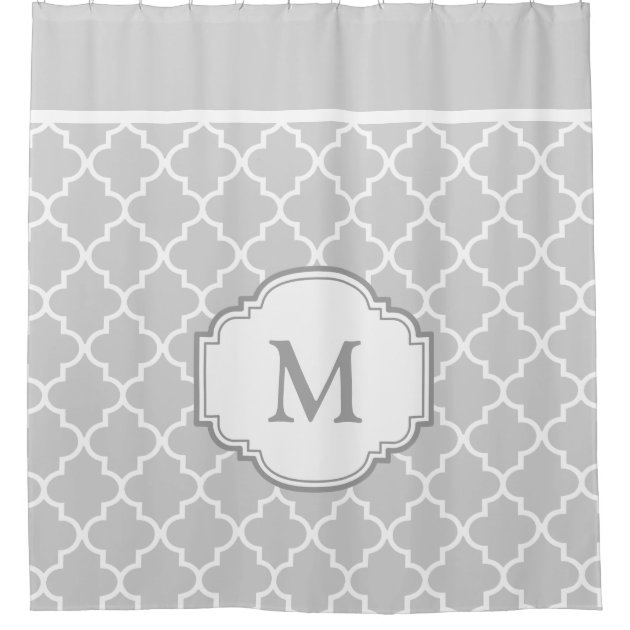 Cly Gray White Moroccan Tile Pattern