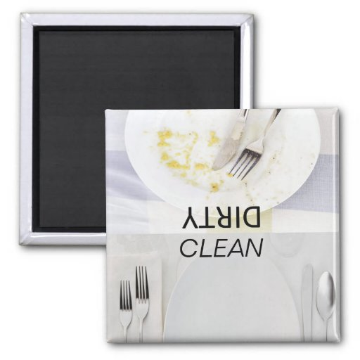 clean dishes, dirty dishes,Dishwasher Magnets | Zazzle