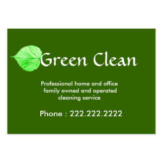 Cleaning Company Green Eco Friendly Nature Business Card