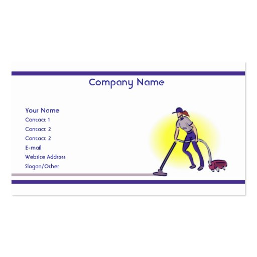 cleaning services business card templates zazzle. Black Bedroom Furniture Sets. Home Design Ideas