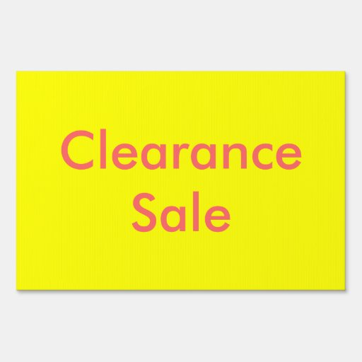 Clearance Sale Sign | Zazzle