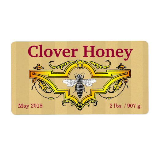 Clover Honey Jar Personalized Shipping Label