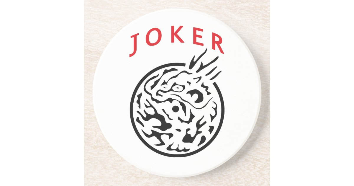 Coaster In Mah Jong Joker Tile Zazzle
