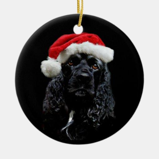Cocker Spaniel Christmas Ceramic Ornament | Zazzle
