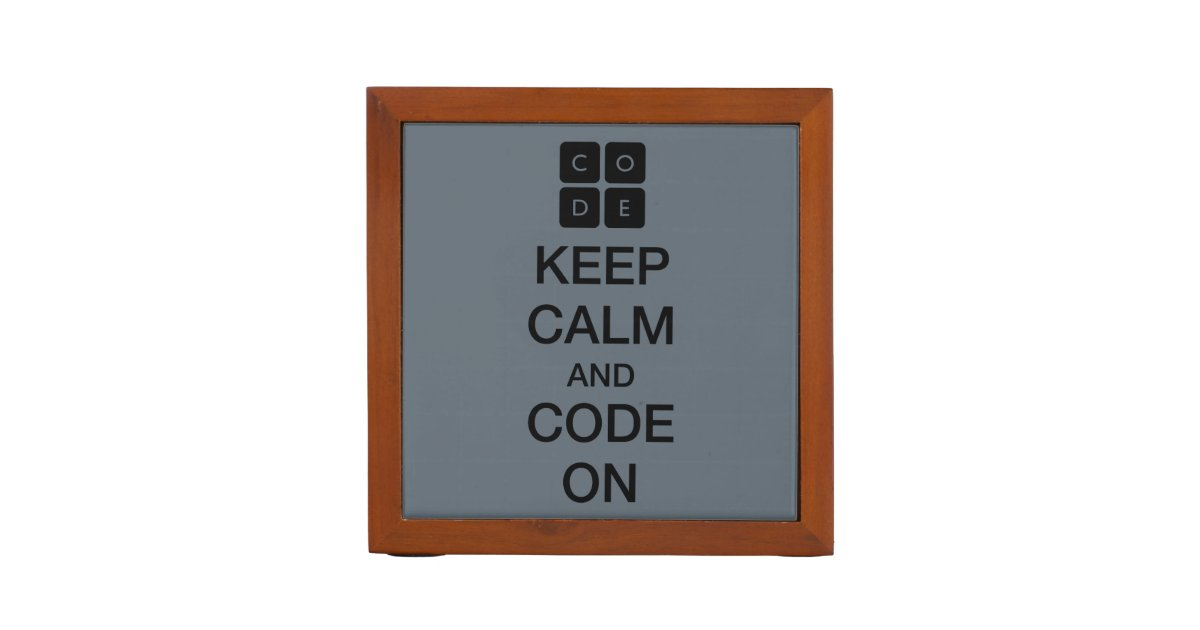 "Code.org ""Keep Calm And Code On"" Pencil/Pen Holder"