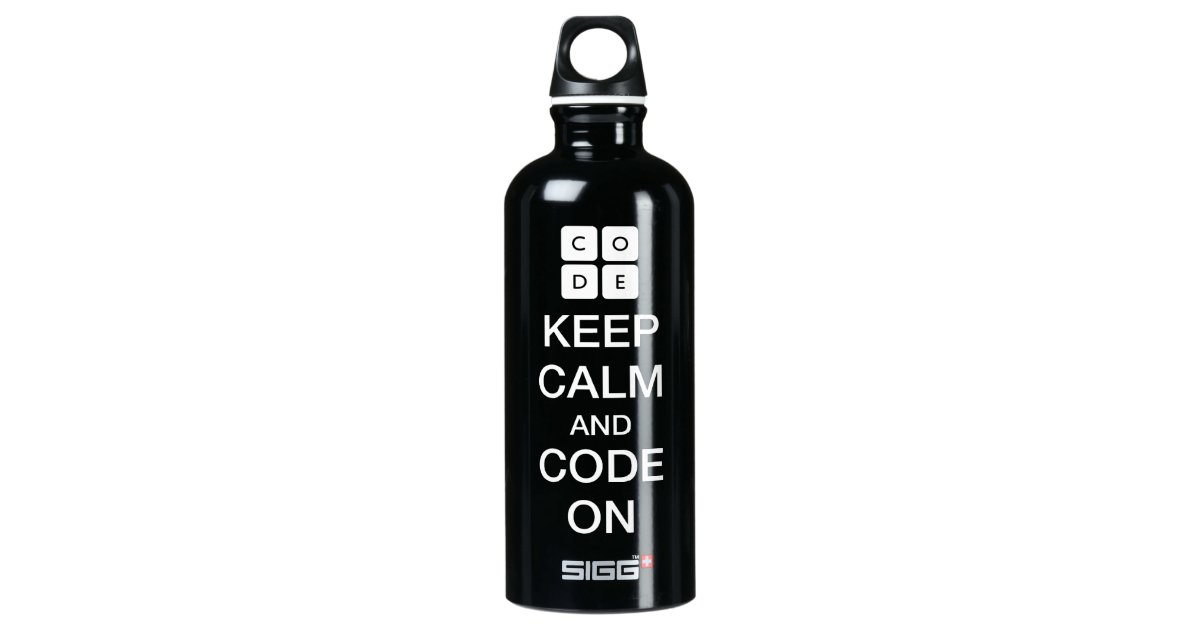 "Code.org ""Keep Calm And Code On"" SIGG Traveler 0.6L Water"
