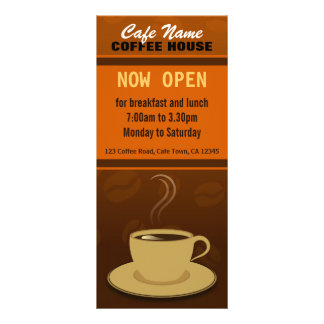 Coffee Shop Rack Cards | Zazzle