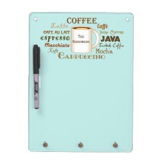 Coffee Names Aqua Personalized
