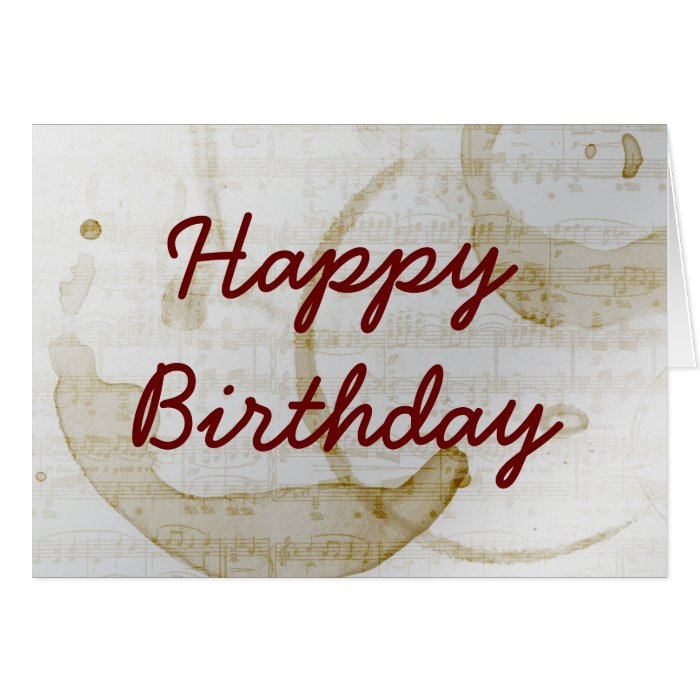 coffee stain music Happy Birthday Greeting Card on PopScreen