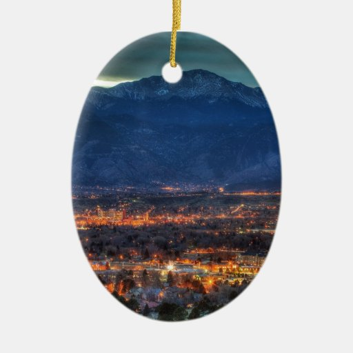 Lighting Colorado Springs: Colorado Springs Lights Ceramic Ornament