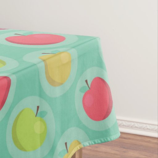 Colorful Apple Print Tablecloth Zazzle