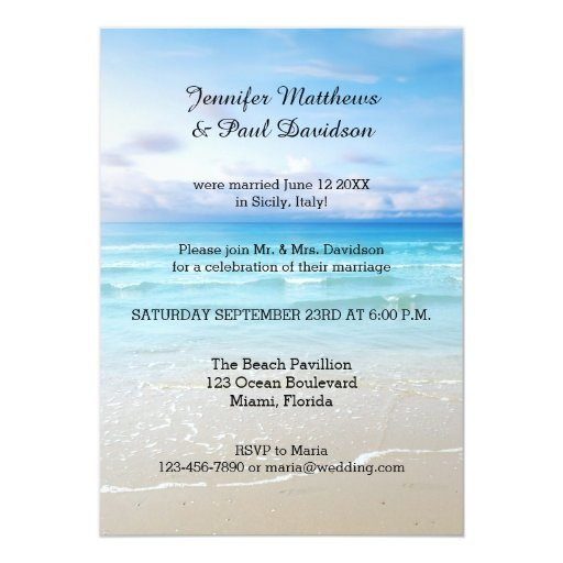 Post Wedding Party Invitation: Colorful Beach Post Wedding Party Invitation